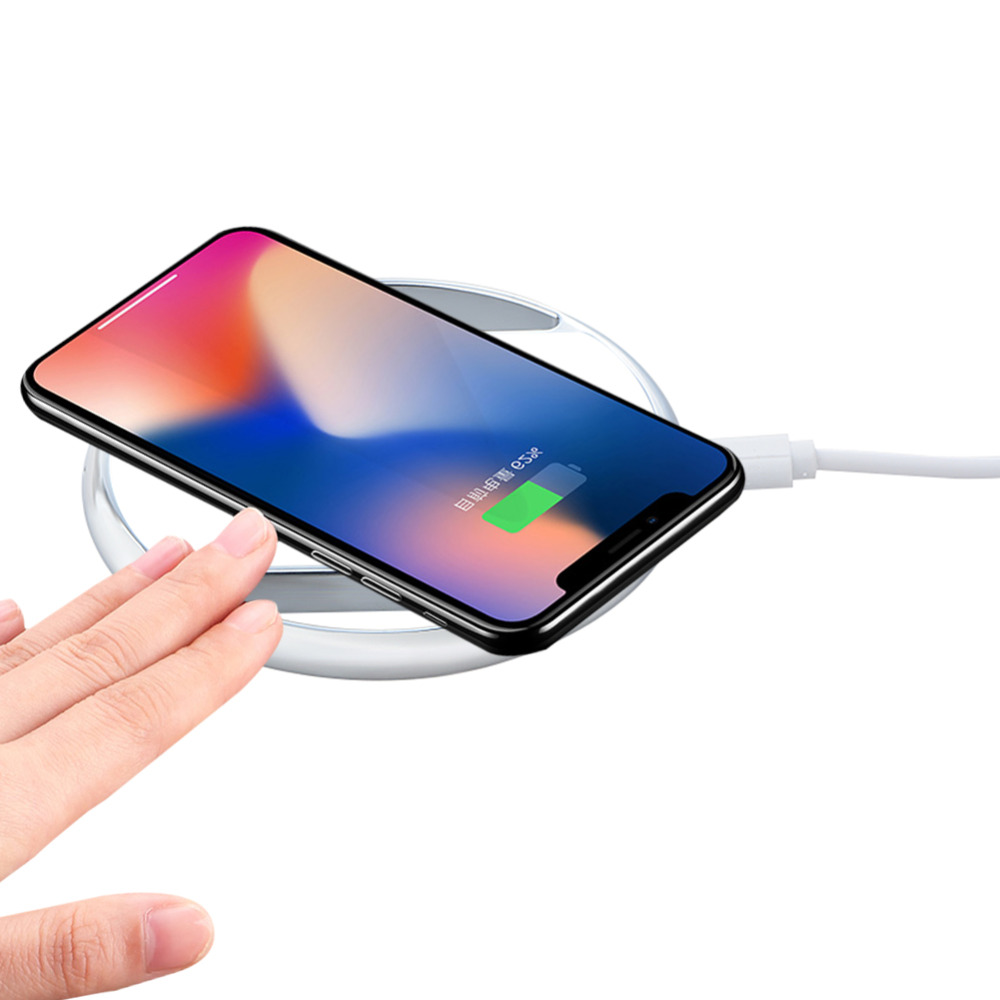 NEW 10W Qi Wireless Charger Slim Metal Pad Charging Mat for Samsung Galaxy Note 8 S6 S7 S8 Edge Apple iPhone 8 8 Plus