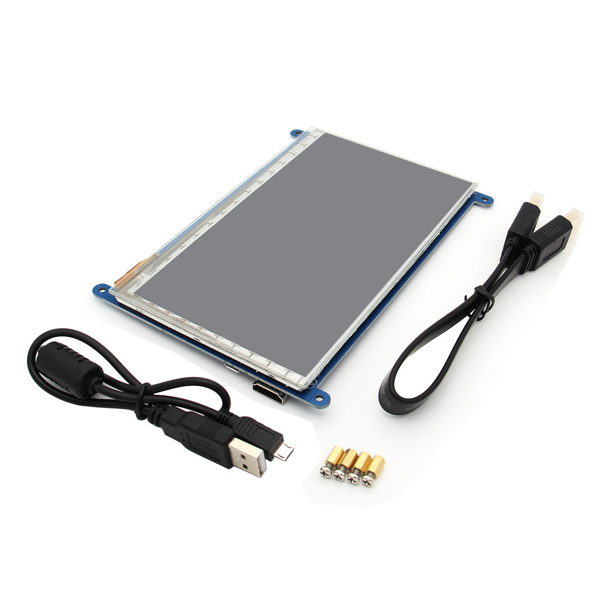 New Arrival 7 Inch 800 x 480 HDMI Capacitive IPS LCD Display 5 Point Touch Screen For Raspberry Pi 3 Model B / 2B / B+ 4 inch hdmi lcd ips screen 800 480 pixel for raspberry pi model b b raspberry pi 2 model b