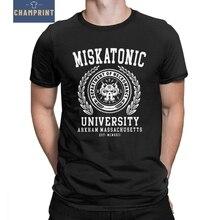 Cthulu y Lovecraft LA UNIVERSIDAD DE Miskatonic de la camiseta para los  hombres llamada de Cthulhu Necronomicon camisetas divert. 7eaaad9b184