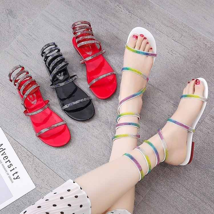 Espadrille sandalen vrouwen sandalen zomer vrouwen schoenen platform sandaal vrouwen 2019 teenslippers vrouwelijke schoenen mode platte schoen