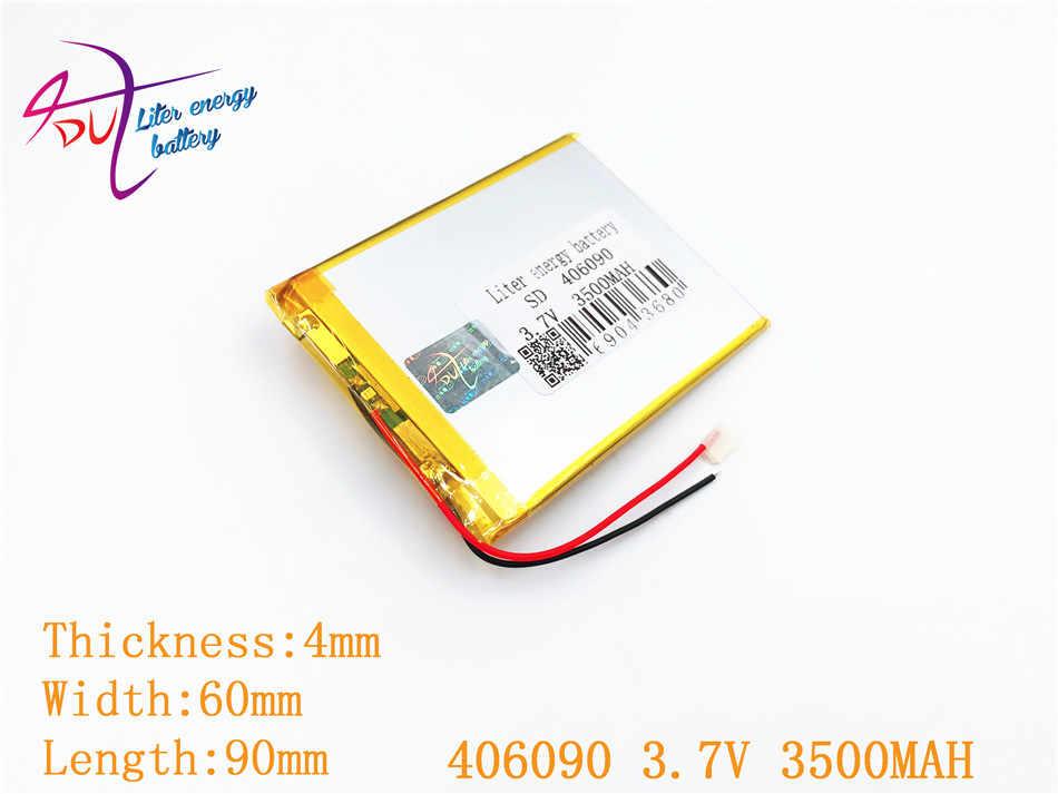 Litre énergie batterie taille 406090 3.7 V 3500 mah tablette batterie avec panneau de Protection pour tablette V3000HD MP4 GPS