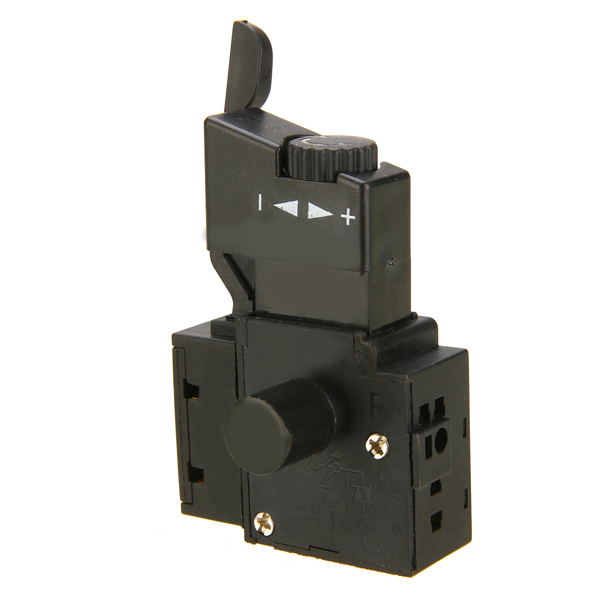 6A Adjustable Speed Switch <font><b>FA2</b></font>-<font><b>6</b></font>/<font><b>1BEK</b></font> Lock on Power Electric Drill Speed Control Trigger Button Switch Plastic Casing image
