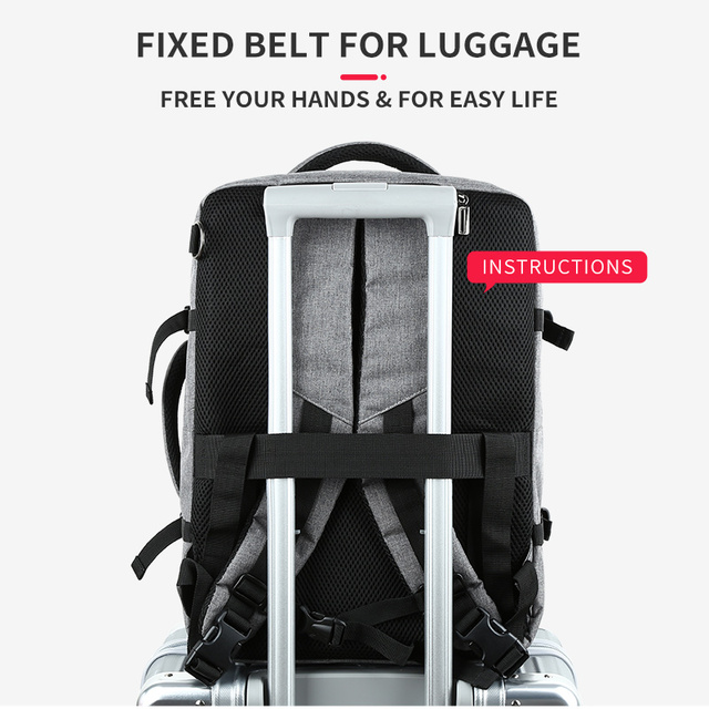 MOYYI Business Travel Double Compartment Backpacks Multi-Layer 4