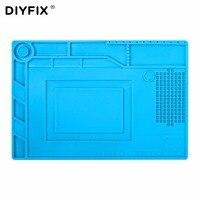DIYFIX S150 Magnetic Silicone Pad Hot Air Gun Station Heat Resistant Insulation Desk Mat Mobile Phone