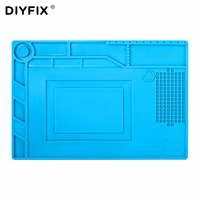 DIYFIX S150 Magnetic Silicone Pad Hot Air Gun Station Heat Resistant Insulation Desk Mat Mobile Phone