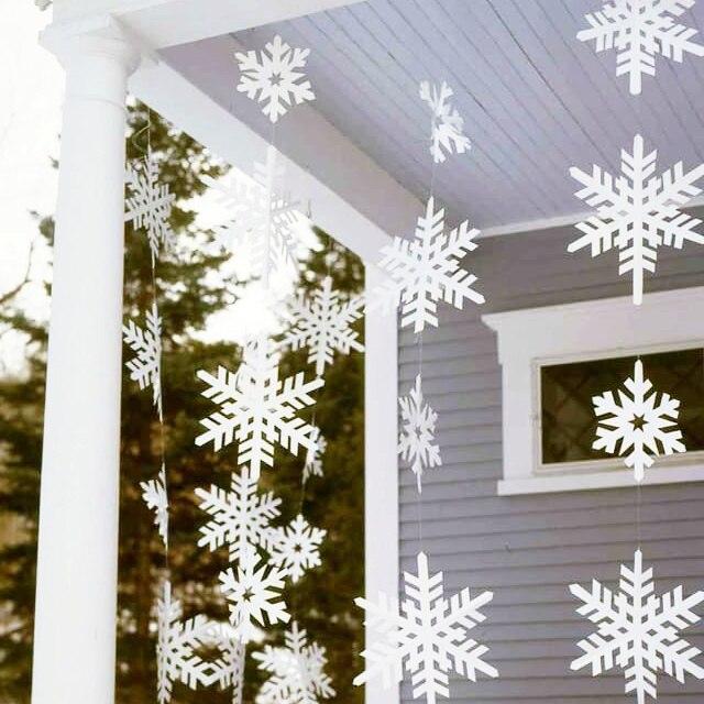 Guirnaldas de papel copo de nieve decoraci n de navidad de - Decoracion navidad papel ...