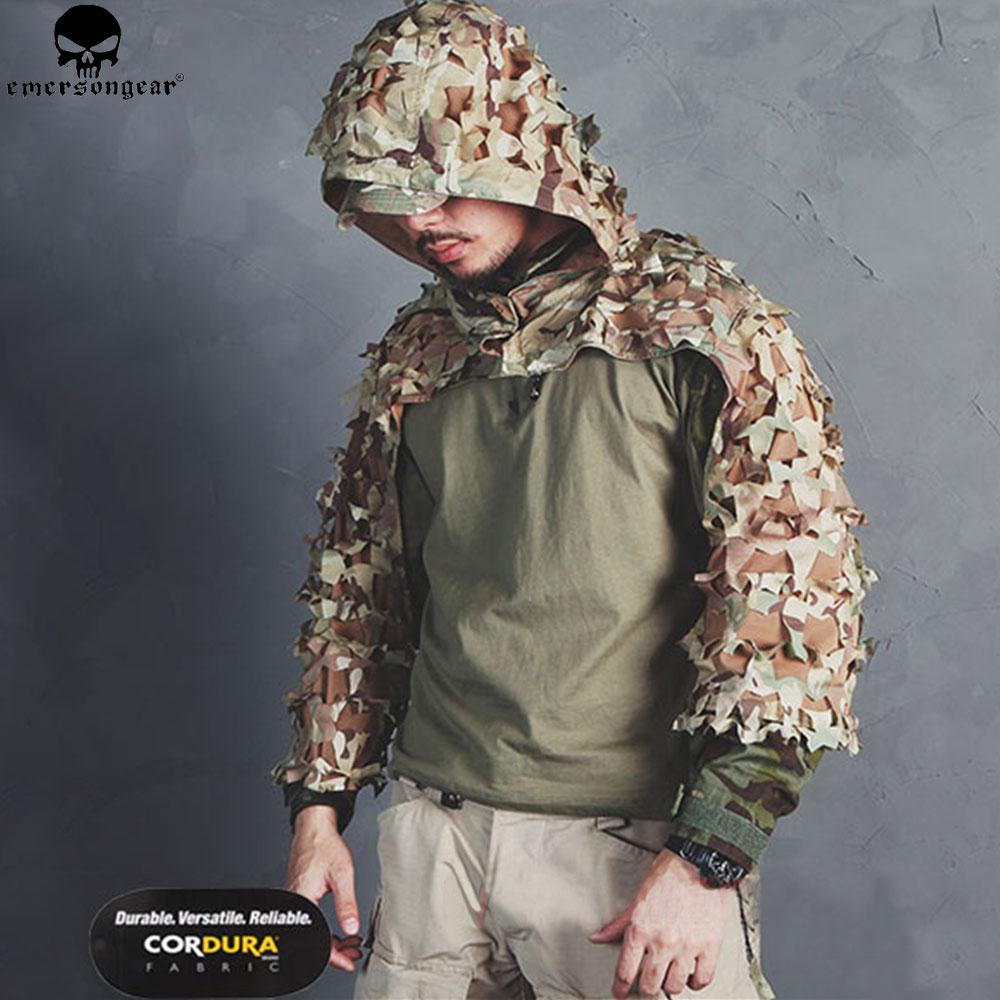 EMERSONGEAR Leichte Assault Ghillie Camouflage Ghillie Anzug Geheimnis Jagd Kleidung Sniper Anzug Camouflage Kleidung EM6975
