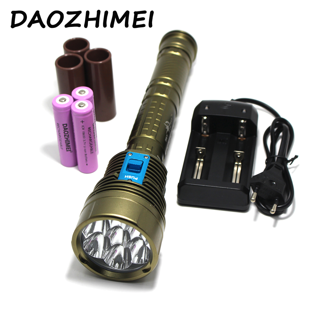 14000LM XML-L2 LED Waterproof Underwater Dive Diving Flashlight Dive Torch Light 200 Meter Lamp for Diving Lantern By 26650 4 xml l2 led diving flashlight torch 18650 26650 lantern underwater professional dive torch waterproof diver lamp light
