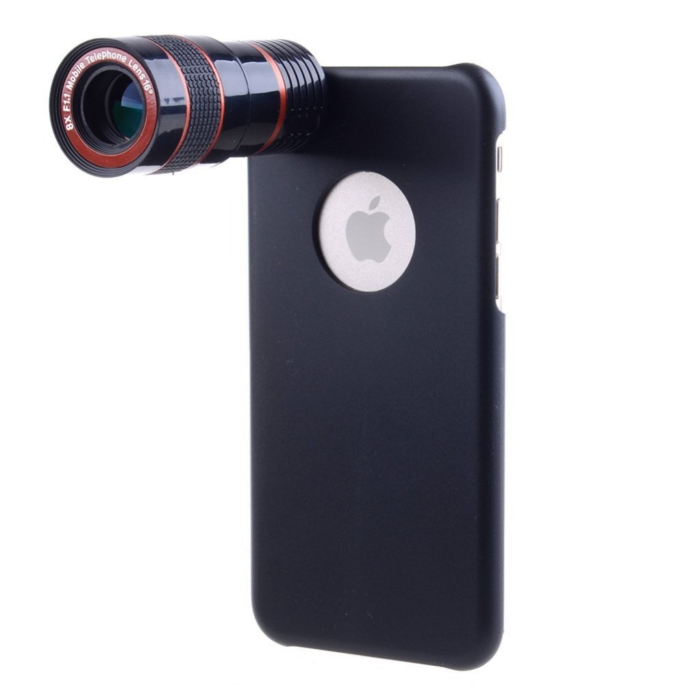 High Quality 8x Optical Zoom Lenses Telescope Universal Clip Camera Lens For iPhone 6 6S 7 plus Samsung S5 S6 S7 with Phone Case
