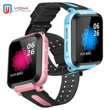 Gps Смарт-часы IP67 Водонепроницаемый часы с Bluetooth на Android WhatsAPP Аудио Плеер удобный часы с gps-трекером часы для детские, для малышей