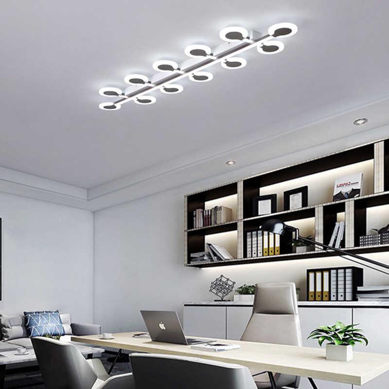الاكريليك شريط طويل LED أضواء السقف غرفة المعيشة مصابيح مطعم الإضاءة تركيبات غرفة نوم المنزل الإنارة الإضاءة الحديثة
