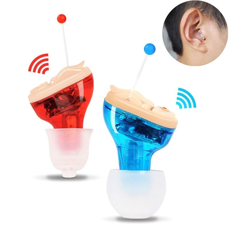 Amplificateur de voix intra-auriculaire nouvellement Mini aide auditive Invisible amplificateur de voix 19ing