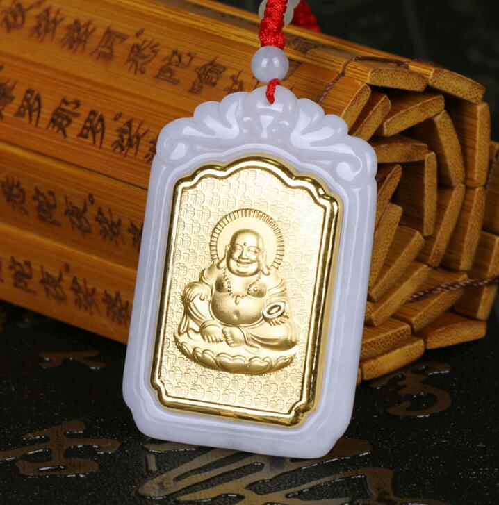 Fine Jewelry Jade Pendant 2018 New Design Buddha Unisex Jade Pendants For Men Women Fashion Jewelry Necklaces good Gift ...