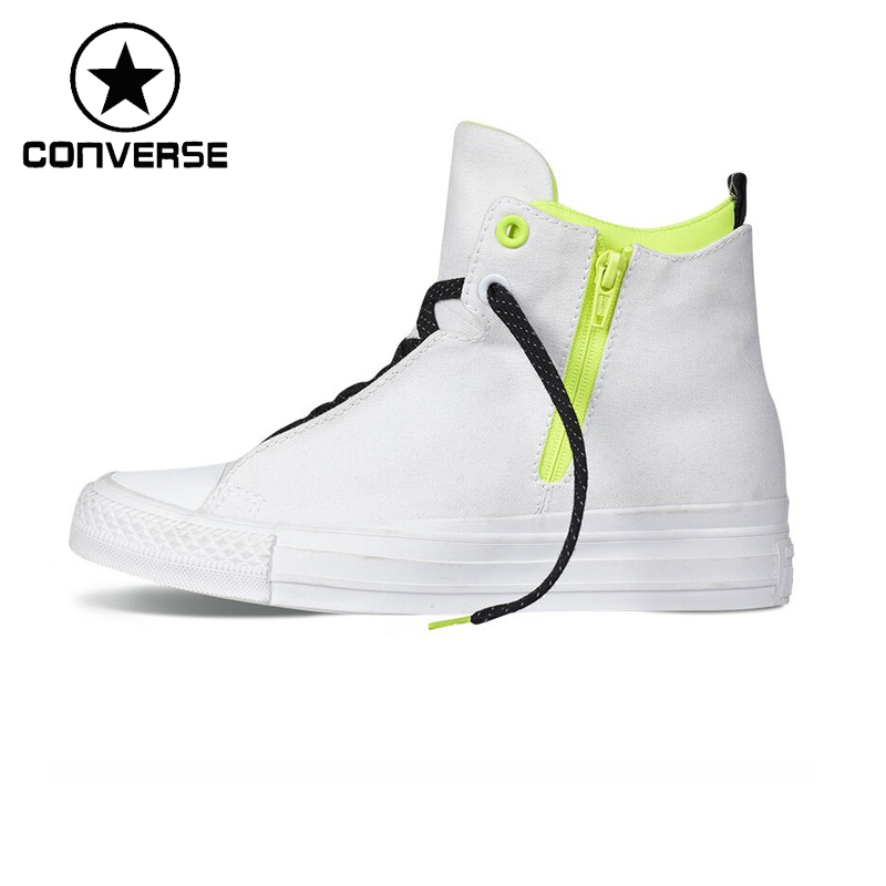 Prix pour Original Nouvelle Arrivée Converse Selene Bouclier Toile Unisexe High top Planche À Roulettes Chaussures Toile Sneakers
