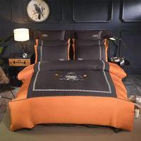 800Tc постельное белье из египетского хлопка, набор королевского размера, роскошное покрывало, вышивка, Королевский размер, домашний текстиль
