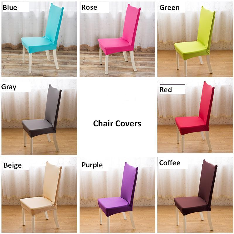 US $65.99 |4 PCS Universal chair cover super elastic dinning chair cover  office computer seat cover stoelhoes eetkamer kitchen chair covers-in Chair  ...