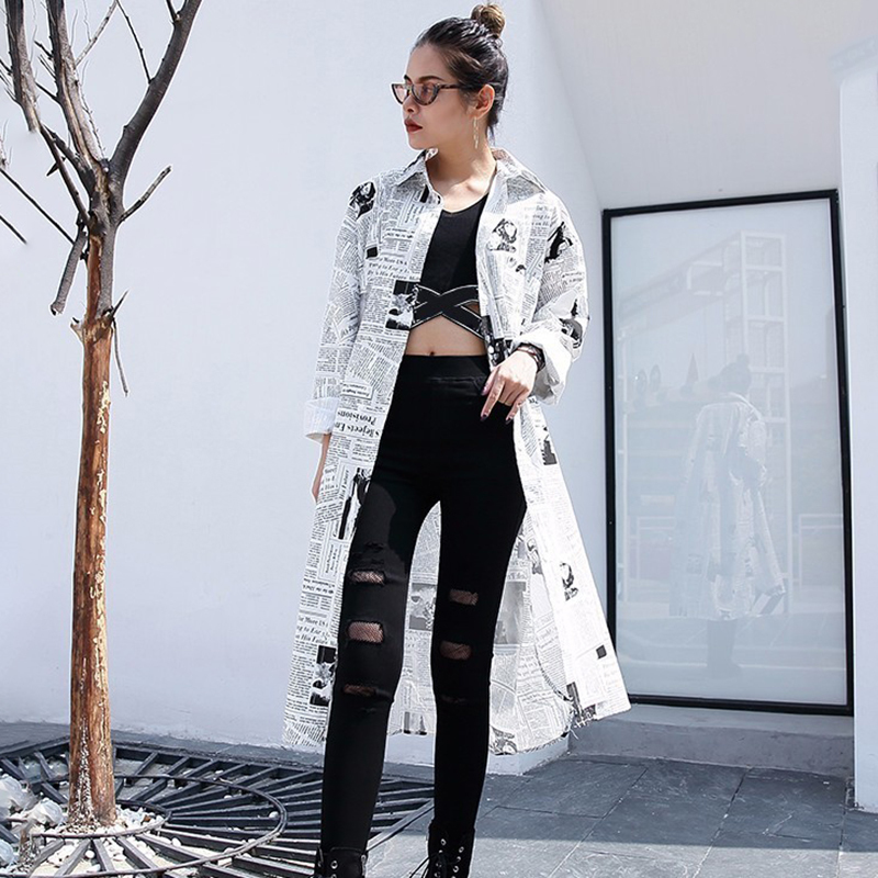 HTB11c4FbL1H3KVjSZFBq6zSMXXaF - [EAM] new Spring Autumn Lapel Long Sleeve White Printed Loose Irregular Big Size Long Shirt Women Blouse Fashion Tide JF008