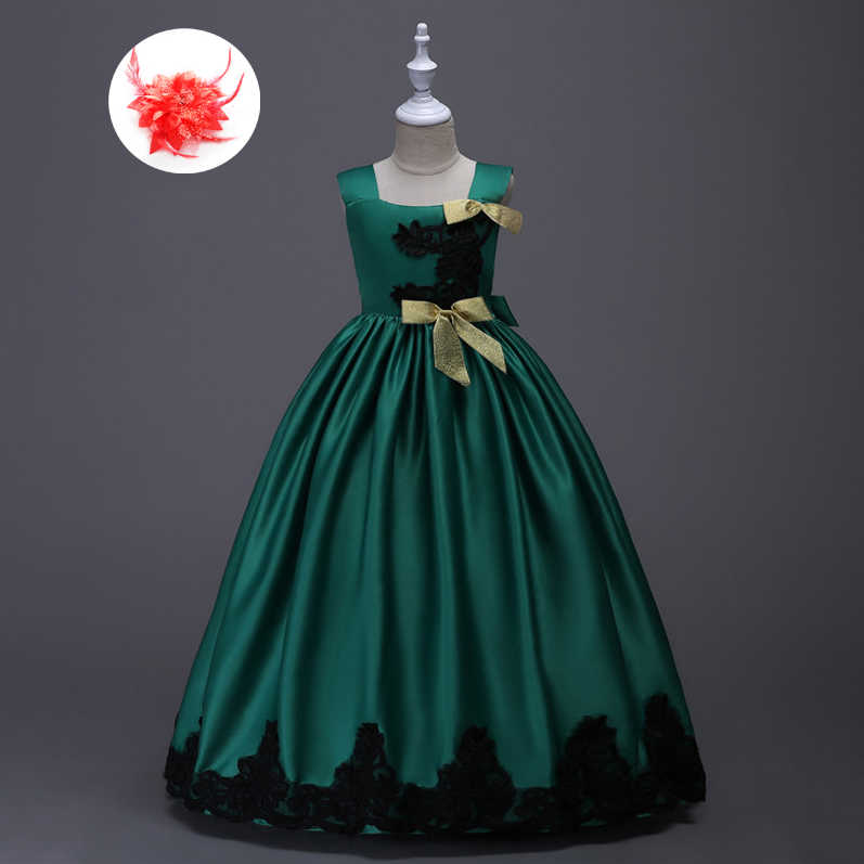 992207e464f Girls Dresses Children Ball Gown 6 7 8 Birthday Wedding Formal Party Wear  Kids Long Dress