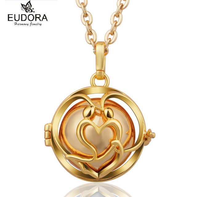 Aliexpress buy gold angel caller bijoux eudora harmony ball gold angel caller bijoux eudora harmony ball chime sound mexican bola floating locket necklace baby caller aloadofball Images