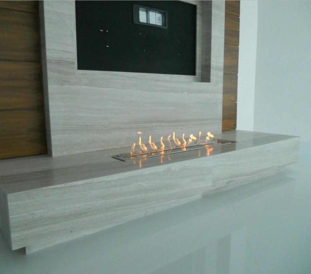 Inno Living Fire 36 Inch Indoor Outdoor Ethanol Burner Bio Fireplace