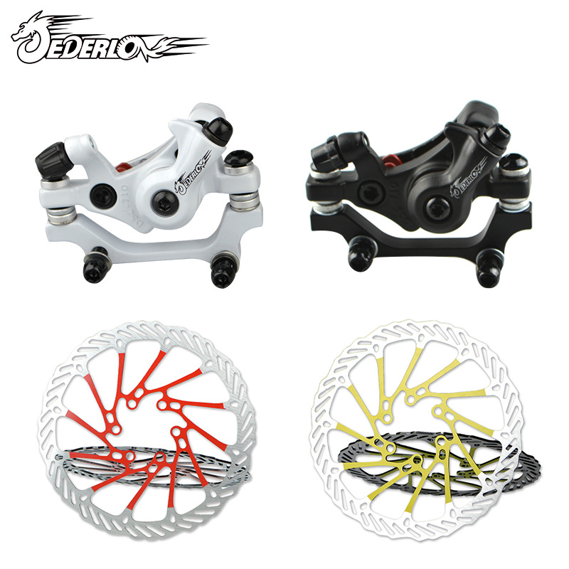 MTB Mountain Bike Front and back Disc Brake Aluminum Alloy Bicycle Brake Mechanical Caliper Cycling Parts 2 pair universal car 3d style disc brake caliper covers front rear