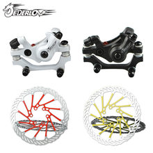 MTB Mountain Bike Front and back Disc Brake Aluminum Alloy Bicycle Brake Mechanical Caliper Cycling Parts(China)