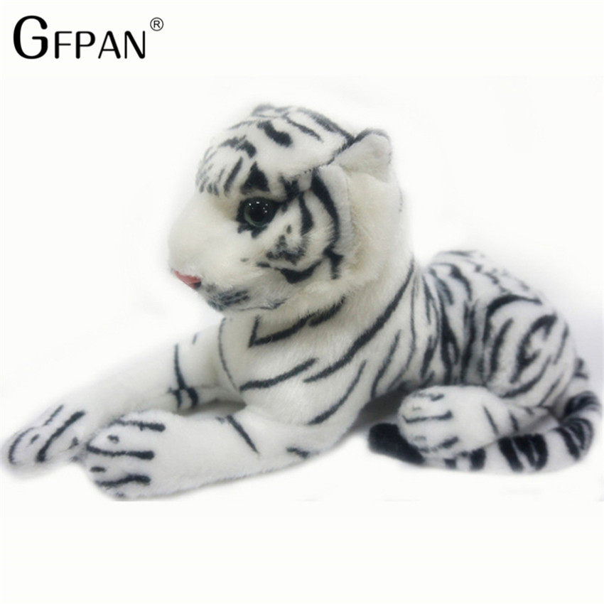 26cm Kawaii White Tigers Plush Toys Simulation Tigers Soft Stuffed Dolls Baby Pillow Plush Kid Toy Christmas Gift For Children