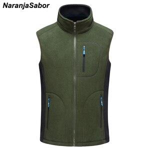 Image 2 - NaranjaSabor ผู้ชายฤดูใบไม้ร่วงฤดูหนาวขนแกะ Softshell เสื้อกั๊ก WARM Waistcoat บุรุษลำลอง Outwear แจ็คเก็ตชายเสื้อผ้า