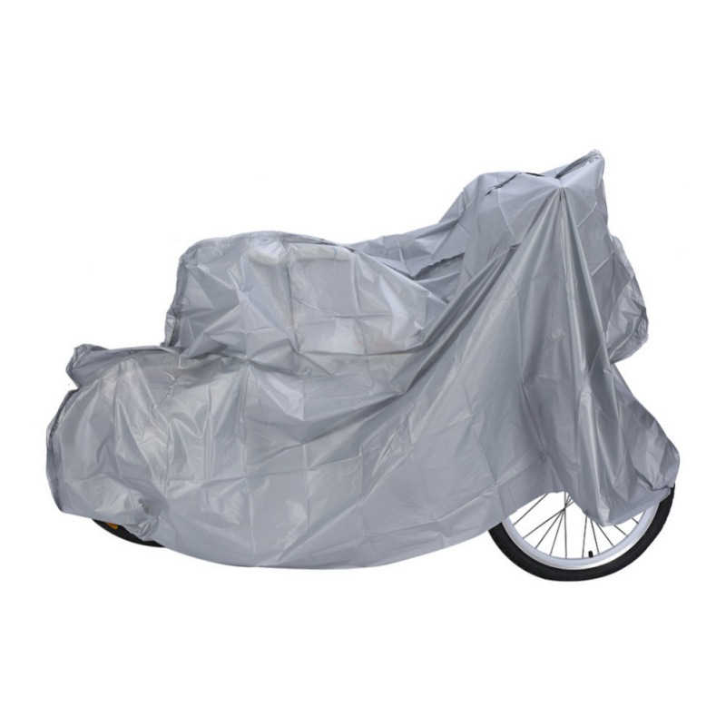 200 * 100 Dustproof Water Proof Anti Dust Waterproof Rain Cover Motorcycle Garage Scooter Accessories Bike Color Silver 5.22