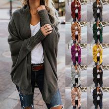 Для беременных вязаный кардиган женский свитер с длинным рукавом Для женщин свитер плюс Размеры свитер для беременных Для женщин Зимняя одежда