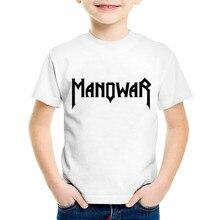 Manowar Print T-Shirt Boys Girls Toddlers Kids