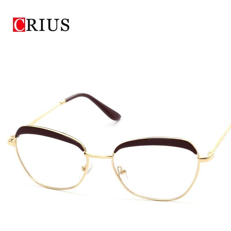 T Brand CRIUS new cat eyes women s optical glasses frame eyewear women  glasses eyeglasses vintage oculos feminino retro 568100f291
