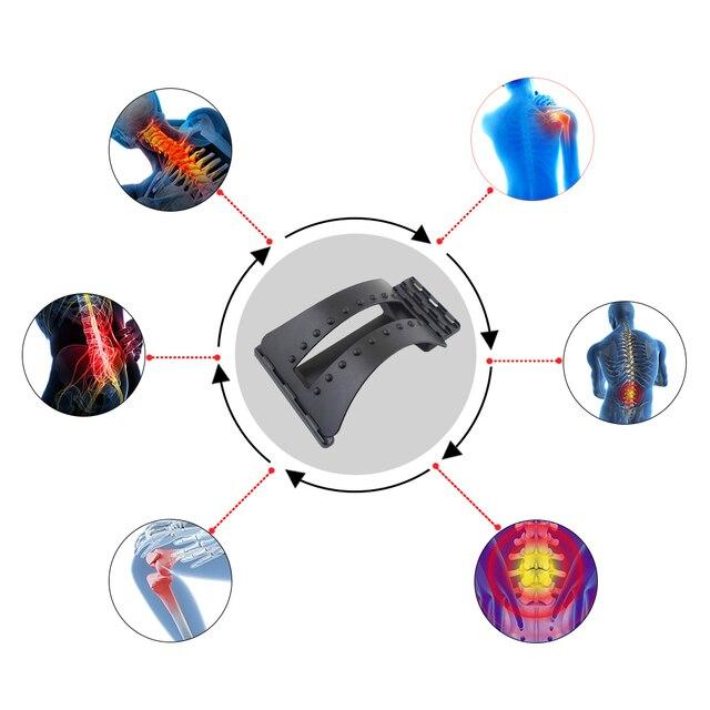 Back Massager Magic Stretcher Fitness Massage Equipment Stretch Relax Mate Stretcher Lumbar Support Spine Pain Relief Corrector 3