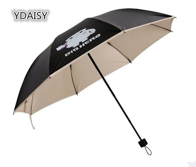 Ydaisy Uper Anti Uv Sun Umbrella Black Caoting Sunscreen Folding Umbrellas Men Women Outdoor Parasol Characters Hero 6