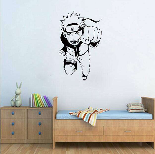hwhd karton anime naruto anime dinding vinyl decal wall sticker
