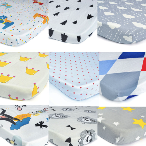 цена Kids Newborn Baby Bed Bedding Cotton Crib Fitted Sheets Mattress Soft Cover Protector Bedsheets 130*70cm