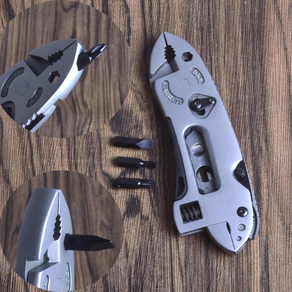 King Sea Mini clé à mâchoires réparation pince multi-outils couteau de poche jeu de tournevis Kit de survie réglable main Multi outils