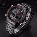 Watches men NAVIFORCE luxury brand Full Steel Quartz Clock Analog-Digital LED Watch Army Military Sports watch relogio masculino