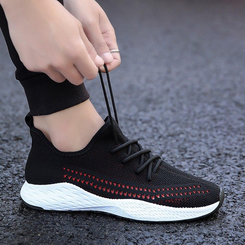 Moda Los Zapatos Black Casuales Sepatu Nueva Gimnasia Talón Redonda Hombres Malla 2018 Pria De red white Sólida Punta Plano Llegada dFRdPq