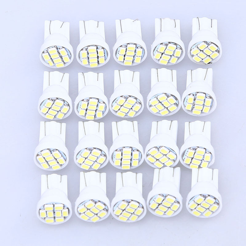 20 Pcs Micro 8 SMD T10 1206 Car LED Light Auto Interior Dome White Bulbs Lamp 2016 New Car Lighting Car Styling