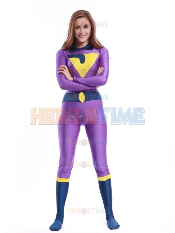 ᐂLa maravilla Jayna traje spandex fullbody Superhero Halloween ...