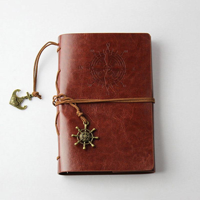 Vintage Retro Pirate Anchor Notebook Pu Cover Notepad Decoration Travel Journey Diary Party Supplies Gifts For Kids Guestes