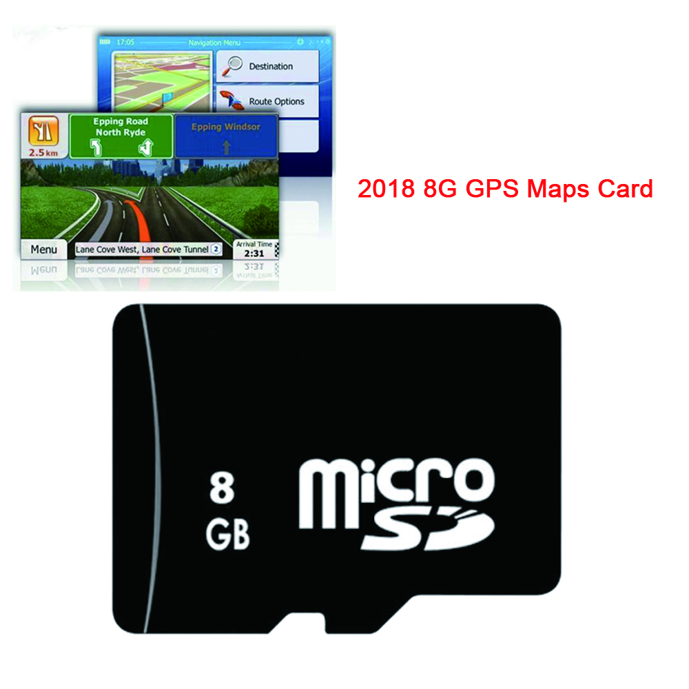 Auto GPS Navigation Card Universal 8G Gps Maps Micro Sd TF 2018 Latest Map For WinCE Car DVD Russia Spain France Germany Italy