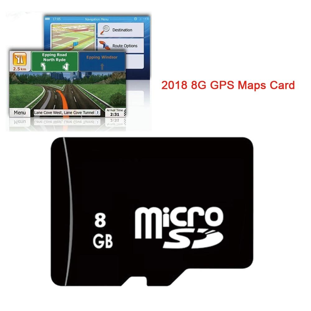 Carta di Auto di Navigazione GPS Universale 8G Mappe gps Micro Sd TF 2018 Ultima Mappa per WinCE Car DVD Russia Spagna Francia Germania italia