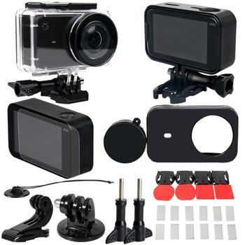 45M cubierta impermeable subacuática de la cubierta de la lente del marco Protector del adaptador de la película de la cáscara para la cámara de acción Xiaomi Mijia