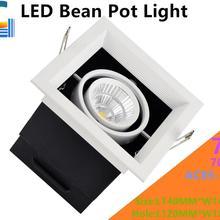 7 Вт светодиодный диодный светильник COB светодиодный решетчатый светильник подсвеченная Светодиодная лампа для бобового желчного пузыря CE RoHS FCC одобрена гарантия 3 года 4 шт. в партии