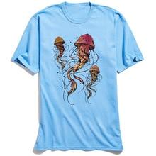 Man T Shirt Jellyfish Dancer Retro Tshirt 100% Cotton Mens Short Sleeve Tees Street Summer T-shirts Hip hop Tops Wholesale