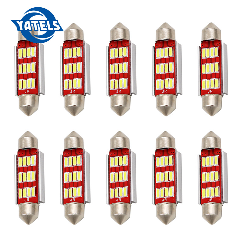 10x 31mm 36mm 39mm 41mm C5W C10W CANBUS Error Free Auto Festoon SMD 4014 LED Car Interior Dome Lamp Reading Bulb White Car led купить в Москве 2019