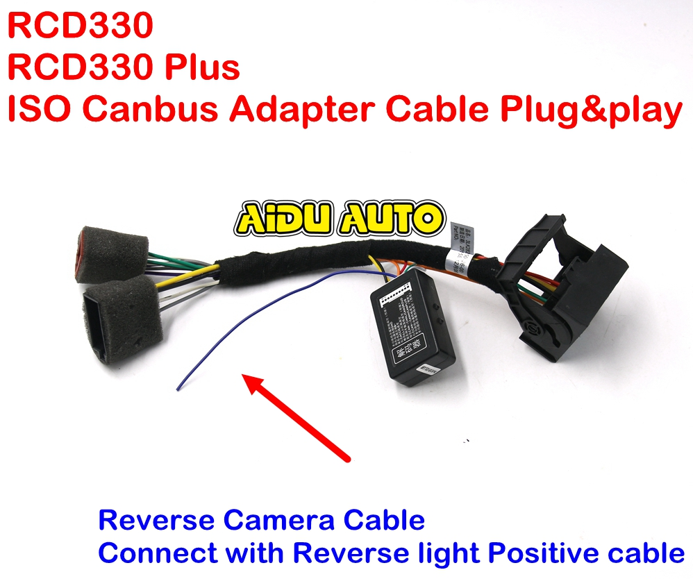 popular canbus adapter buy cheap canbus adapter lots from rcd330 plus plug play iso quadlock adapter cable w canbus decoder simulator for vw golf vi