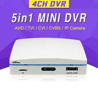 Wetrans 4 Channel AHD DVR 5 in 1 Surveillance CCTV Security 1080N H.264 USB Mini Hybrid HDMI DVR IP 4CH Mini HD Video Recorder